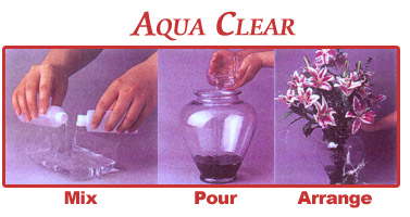 aqua clear process - mix, pour, arrange