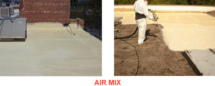 Air Mix Roofing Application