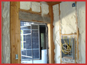 spray foam in walls